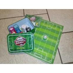 SUPER GOAL gioco da tavolo di CALCIO con dadi e campo portatile CREATIVAMENTE da viaggio da 6 anni