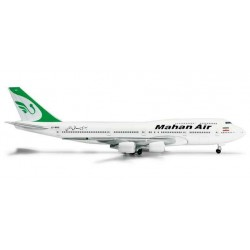 MAHAN AIR BOEING 747-300 COMBI HERPA WINGS 524285 scala 1:500 model