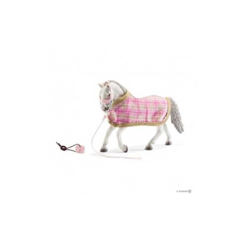 Set GIUMENTA LIPIZZANA CON COPERTA horse club SCHLEICH cavalli in resina ESCLUSIVO 42399 età 5+