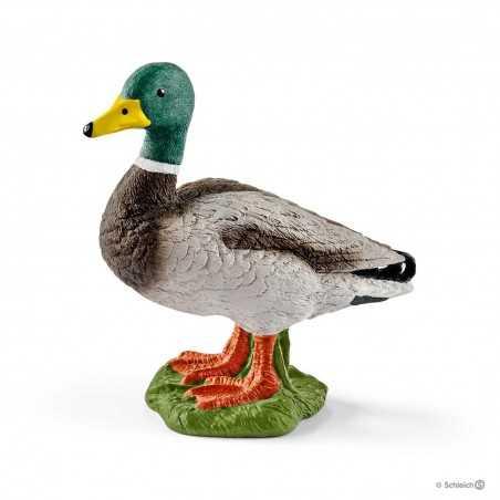 ANATRA MASCHIO wild life SCHLEICH animali in resina 13824 germano reale DIPINTO A MANO età 3+
