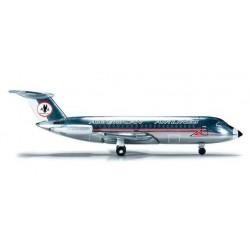 AMERICAN AIRLINES BAC 1-11-400 HERPA WINGS 523455 scala 1:500 model