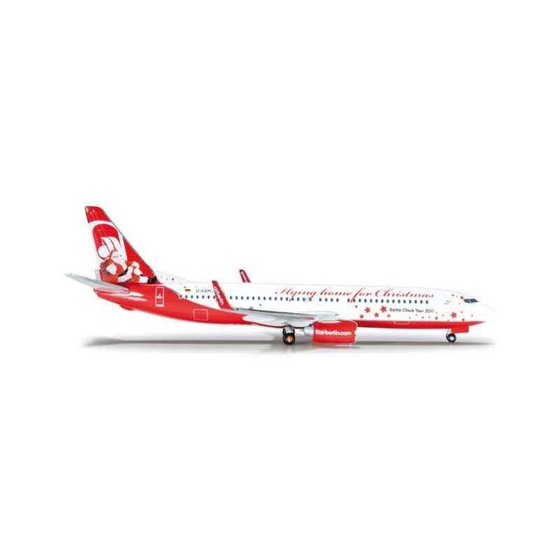 AIRBERLIN BOEING 737-800 CHRISTMAS HERPA WINGS 523448 scala 1:500 model