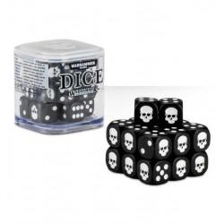 SET DI 20 DADI colorati CLASSICI Warhammer NERI cubo GAMES WORKSHOP Age of Sigmar e 40k