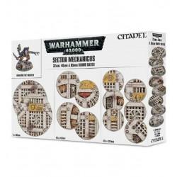 52 INDUSTRIAL BASES Sector Mechanicus BASETTE 32 40 65 mm GAMES WORKSHOP Warhammer CITADEL 40k 12+