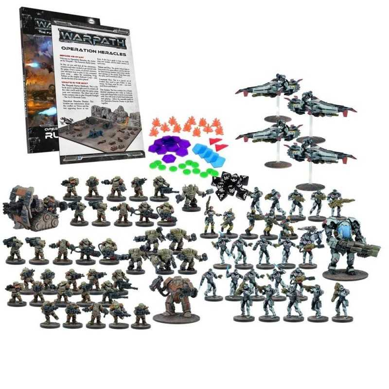 WARPATH OPERATION HERACLES 2 players mega battle set MANTIC gioco di miniature sci-fi 68 miniatures