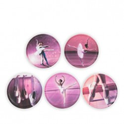 KLETTIES SET for your backpack with velcro interchangeable DANCERS DANCER Ergobag 6 pieces limpets THATCH