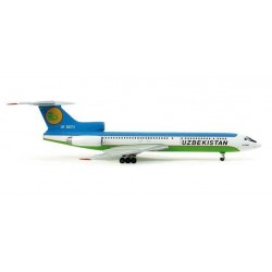 UZBEKISTAN AIRWAYS TUPOLEV TU-154M HERPA WINGS 553797 scala 1:200 model