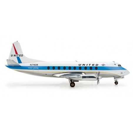 UNITED AIRLINES VICKERS VISCOUNT 700 HERPA WINGS 553681 scala 1:200 model