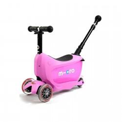 MINI2GO+ PLUS DELUXE ROSA Micro monopattino spingi e vai con luci da 12 mesi multifunzione