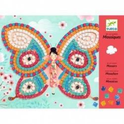 Mosaici in carta e spugna FARFALLE Djeco DJ08898 kit creativo da 7 anni