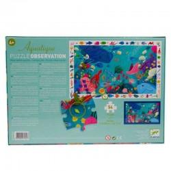 Puzzle scoperta OBSERVATION 54 PEZZI Animali del mare con poster età dai 5 anni