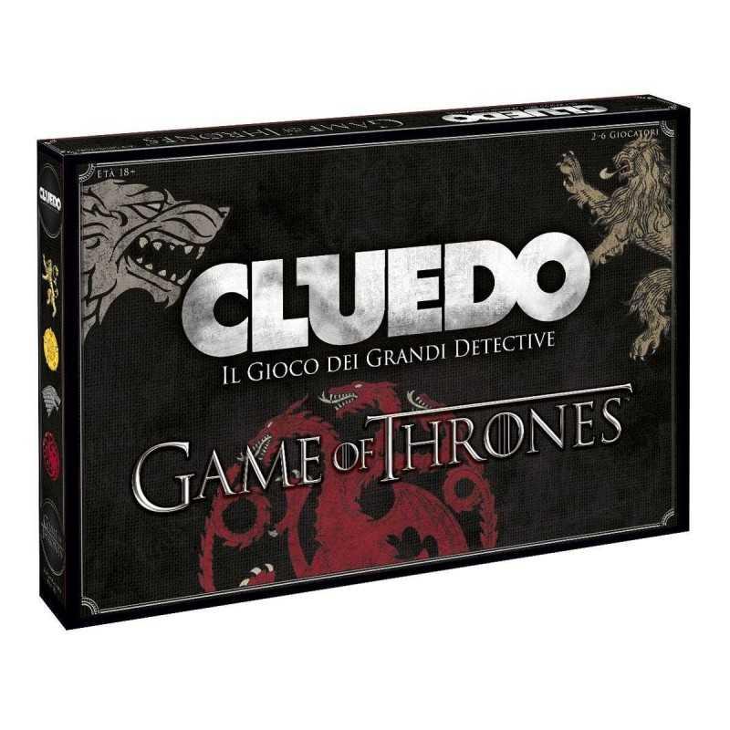 CLUEDO Game of Thrones CLASSICO gioco MISTERO doppio tabellone PERSONAGGI DELLA SERIE in italiano 18+