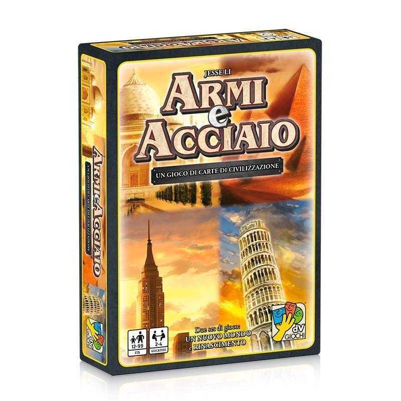 ARMI E ACCIAIO dVgiochi CIVILIZZAZIONE gioco di carte RINASCIMENTO un nuovo mondo 12+