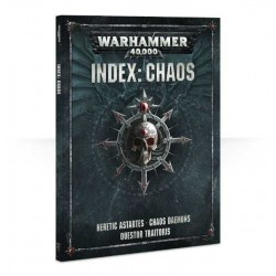 libro INDEX: CHAOS codex WARHAMMER 40000 40K caos MANUALE a colori 128 PAGINE