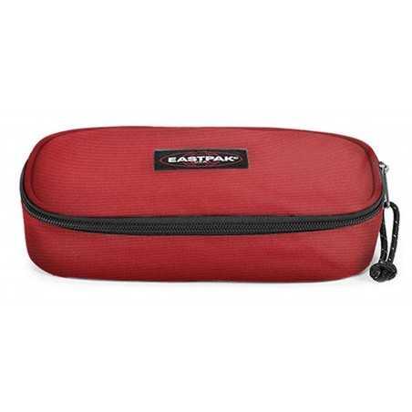 ASTUCCIO Eastpak OVAL tasca interna con zip RAW RED divisoria porta penne EK717 180 tinta unita ROSSO