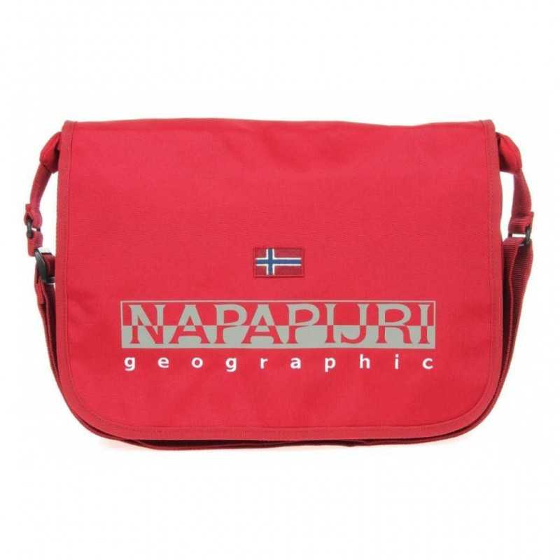TRACOLLA Napapijri HARRIS old red REGOLABILE rosso BORSA geographic DOPPIO SCOMPARTO con zip 2017