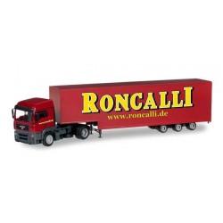 MAN TGX LX JUMBO BOX SEMITRAILER RONCALLI Herpa 304658 Auto Trucks Camion scala 1:87 model