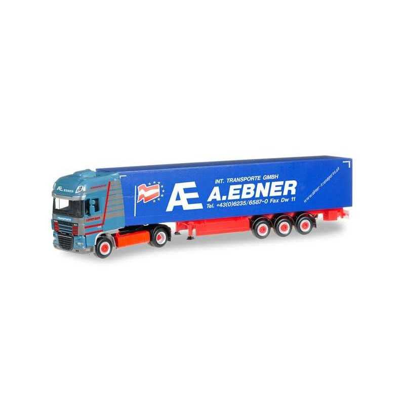 DAF XF 105 SSC CURTAIN CANVAS SEMITRAILER A. EBNER Herpa 304153 Auto Trucks Camion scala 1:87 model