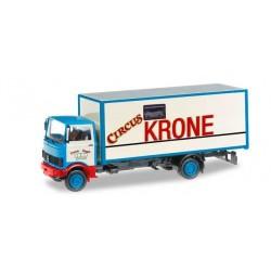 MERCEDES BENZ 813 BOX TRUCK CIRCUS KRONE Herpa 304078 Auto Trucks Camion scala 1:87 model
