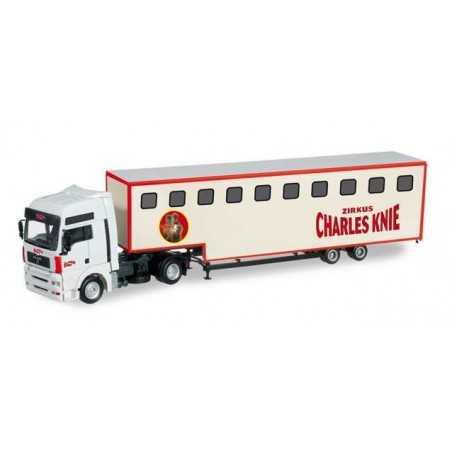 MAN TGA XXL JUMBO CHARLES KNIE Herpa 303668 Auto Trucks Camion scala 1:87 model