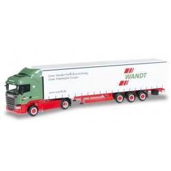 SCANIA R 2013 HL CURTAIN CANVAS SEMITRAILER WANDT Herpa 303996 Auto Trucks Camion scala 1:87 model