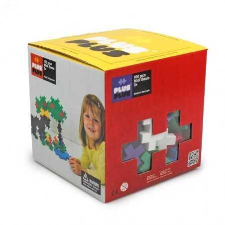 MIDI BASIC 100 pezzi PLUSPLUS gioco modulare CUBO costruzioni PLUS PLUS età 1+