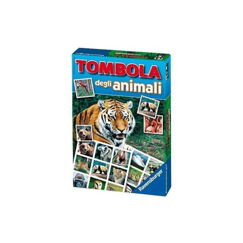 TOMBOLA DEGLI ANIMALI Ravensburger LOTO gioco di società CARTE età 4 - 8