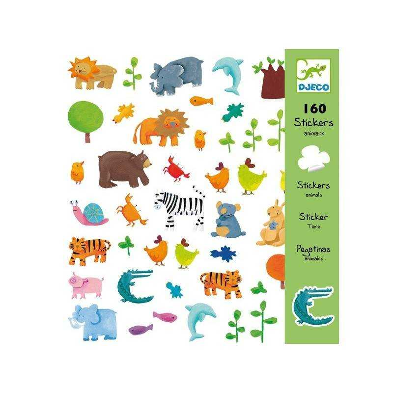 "Stickers ""animals"" 160 PCs."