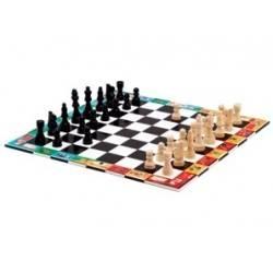 Jeu de dames et échecs portatifs