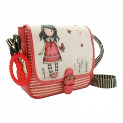 MINI BAG Gorjuss TIME TO FLY Coated Saddle TRACOLLA regolabile 453GJ06 bottone magnetico BORSA