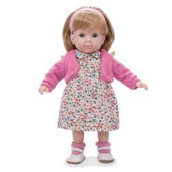 BAMBOLA con vestito a FIORI ROSA Carla BEBE' 36 cm BERENGUER Boutique DOLL bambolotto MADE IN SPAIN età 3+