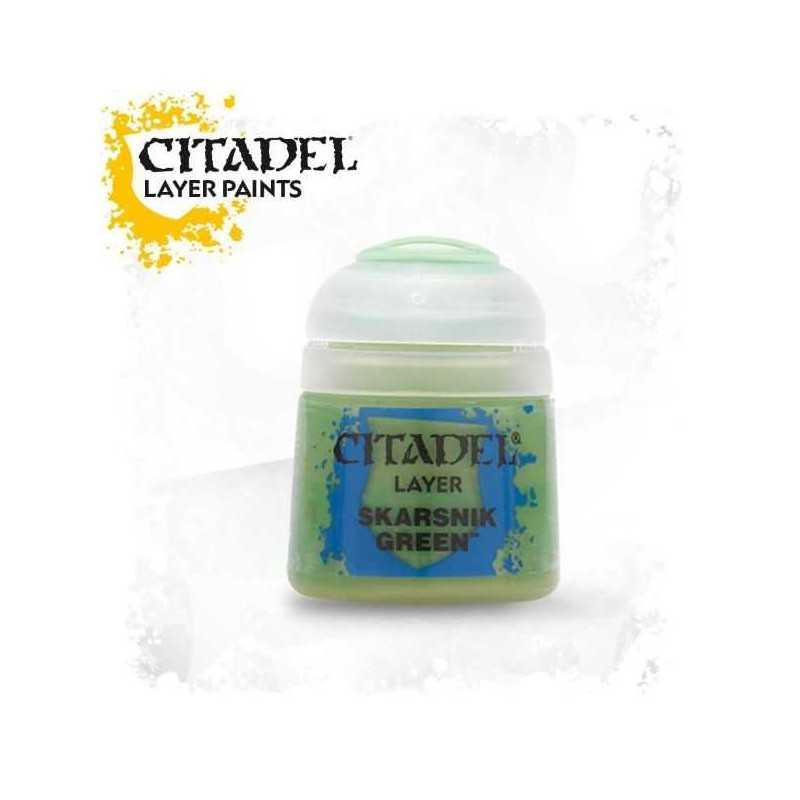 SKARSNIK GREEN colore LAYER Citadel WARHAMMER Games Workshop VERDE 12 ml