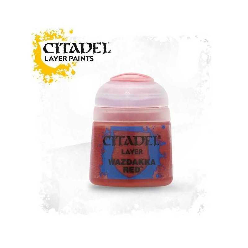 WAZDAKKA RED colore LAYER Citadel WARHAMMER Games Workshop ROSSO 12 ml