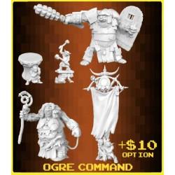 OGRE COMMAND in plastica REAPER MINIATURES  Kickstarter Bones III limited edition