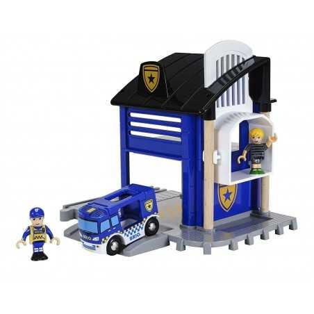 STAZIONE DI POLIZIA treni in legno BRIO trenino 33813 POLICE STATION