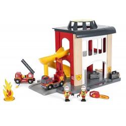 CASERMA DEI POMPIERI Brio treni in legno 33833 Fire Station ferrovia