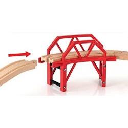 PONTE CON CURVA treni in legno Brio 33699 con rampe bridge ferrovia