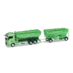 MAN TGX XLX EURO 6 BULK SILO TRAILER SILO MELMER Herpa 304535 Auto Trucks Camion scala 1:87 model