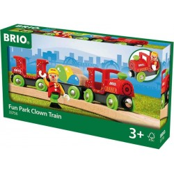 TRENO LUNA PARK CLOWN trenino BRIO treni in legno 33756 plastica FUN TRAIN età 3+