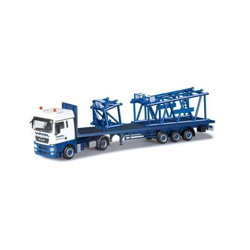 MAN TGX XLX SEMITRAILER LIEBHERR LR 1600-2 WASEL KRANE  Herpa 303446 Auto Trucks Camion scala 1:87 model