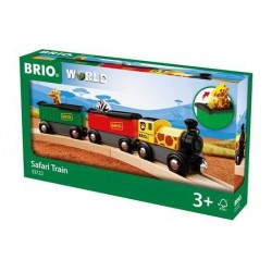 TRENO SAFARI trenino BRIO WORLD treni in legno 33722 plastica SAFARI TRAIN età 3+