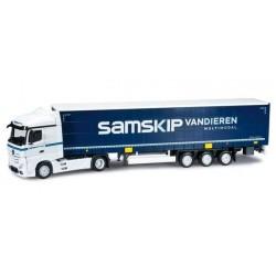 MERCEDES BENZ ACTROS STREAMSPACE SEMITRAILER SAMSKIP VAN DIEREN Herpa 303002 Auto Trucks Camion scala 1:87 model