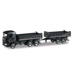 SCANIA 2 2013 TANDEM AXLE DUMP TRAILER WAGNER Herpa 304580 Auto Trucks Camion scala 1:87 model