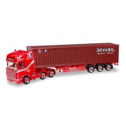 SCANIA R TL 6X4 CONTAINER TRAILER WEEDA WEC LINES Herpa 304191 Auto Trucks Camion scala 1:87 model