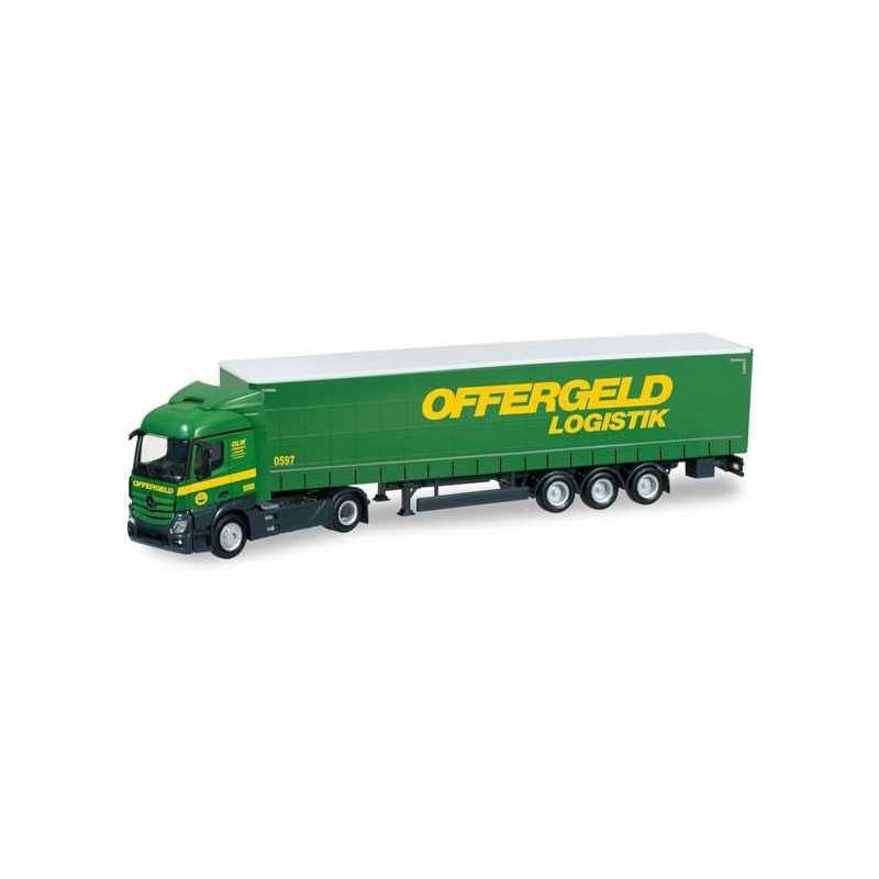 MERCEDES BENZ ACTROS STREAMSPACE CURTAIN OFFERGELD Herpa 304184 Auto Trucks Camion scala 1:87 model