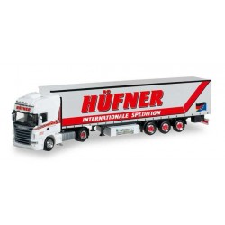 SCANIA R TL CURTAIN SEMITRAILER OSWALD HUFNER Herpa 304610 Auto Trucks Camion scala 1:87 model