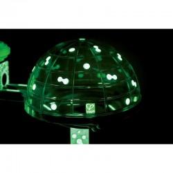 QUADRILLA SPACE CITY set base gioco HAPE piste in legno per biglie FOSFORESCENTE età 4+