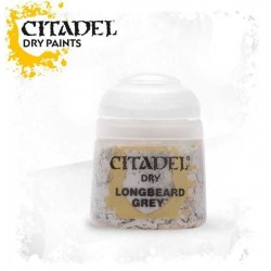 LONGBEARD GREY colore DRY Citadel WARHAMMER Games Workshop BIANCO 12 ml