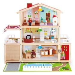 VILLA DELLE BAMBOLE ARREDATA CON ACCESSORI Mansion casa Hape E3405 Dollhouse