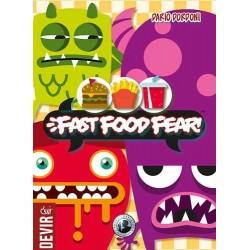 FAST FOOD FEAR gioco da tavolo DEVIR party game MOSTRI in tempo reale CLESSIDRA età 8+